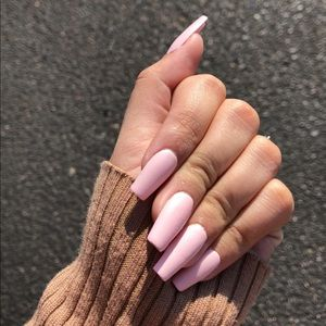 Matte Baby Pink Press On Nail Set of 12